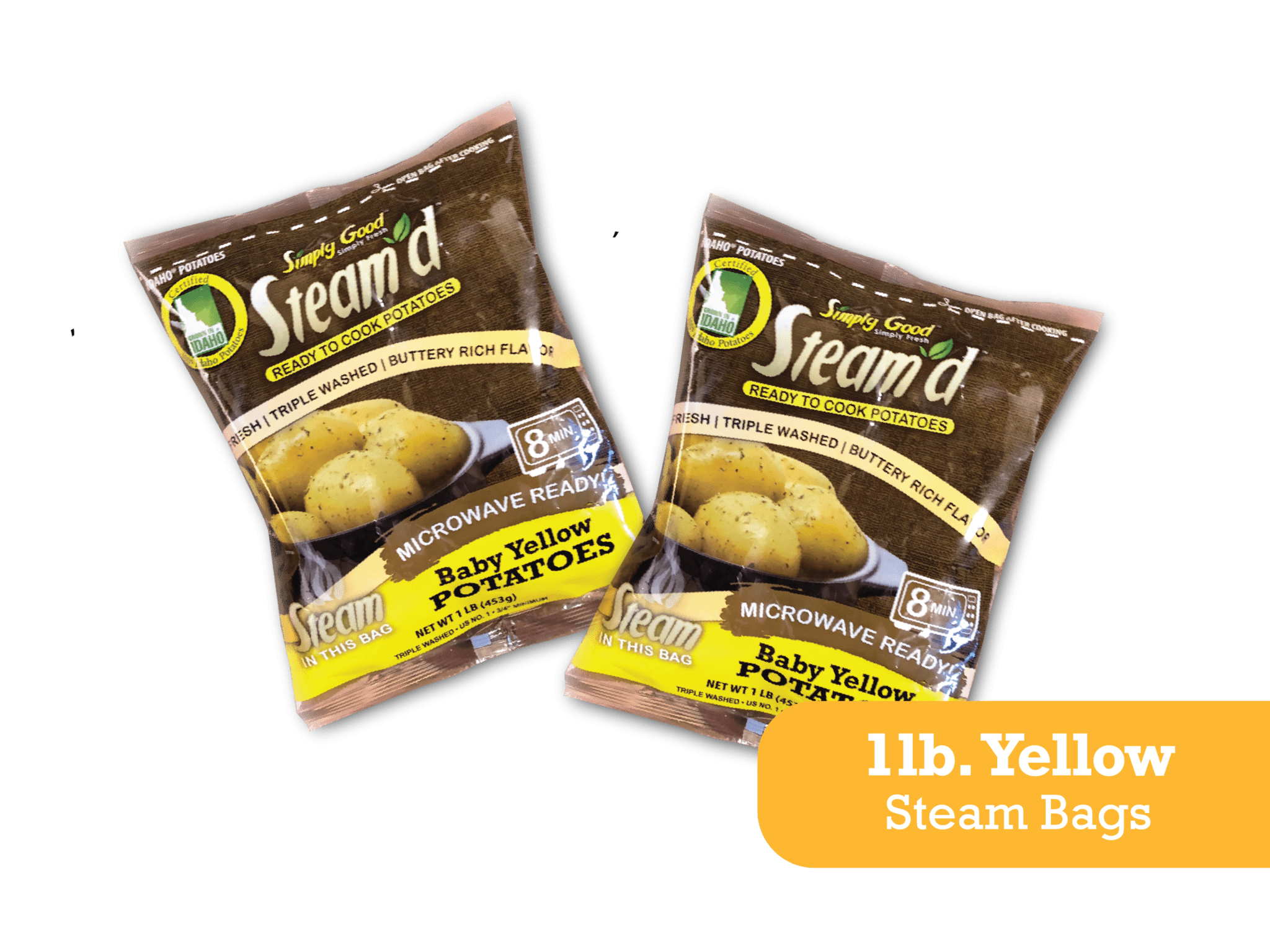 Eagle Eye Produce Steam'd Baby Yellow Potatoes 1 lb steam bags